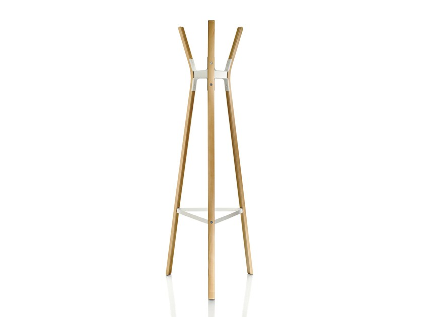 Wooden coat stand STEELWOOD   Coat rack by Magis
