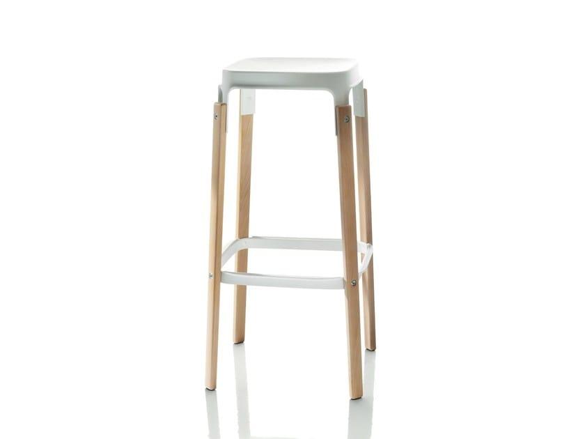 High stool STEELWOOD   Stool by Magis
