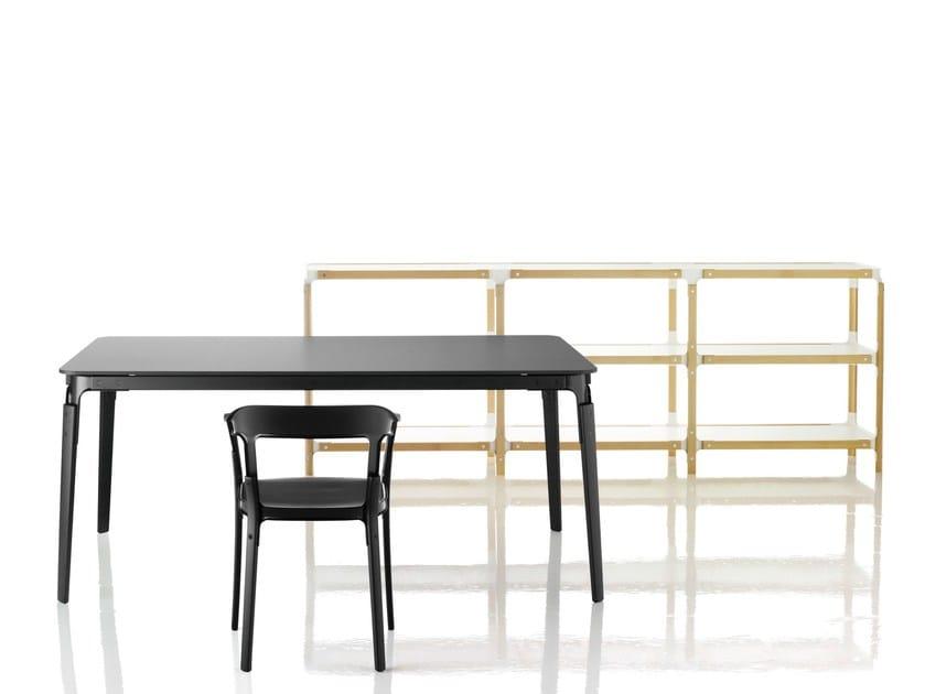 Rectangular HPL table STEELWOOD | Table by Magis