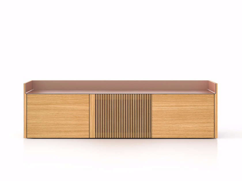 Suspended wooden sideboard STH303 | Wooden sideboard by Punt