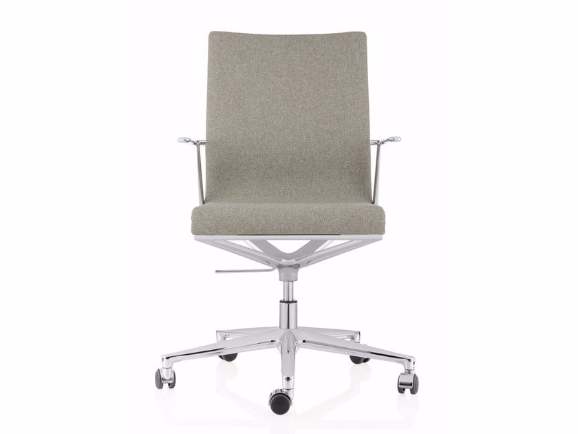 Swivel fabric task chair with 5-Spoke base with armrests STICK CHAIR ATK 4-5 STAR BASE | Fabric task chair - ICF