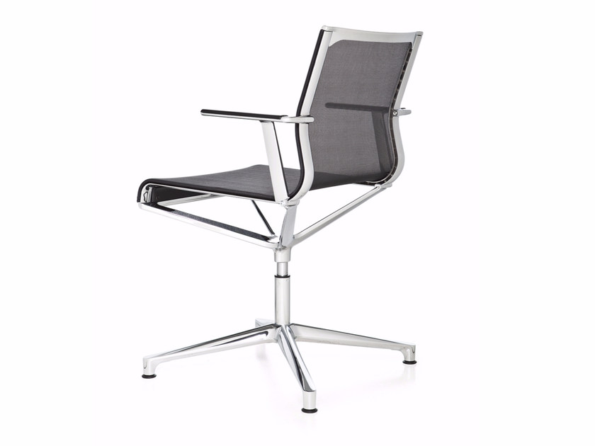 Swivel mesh task chair with 4-Spoke base with armrests STICK CHAIR ATK 4-5 STAR BASE | Task chair - ICF