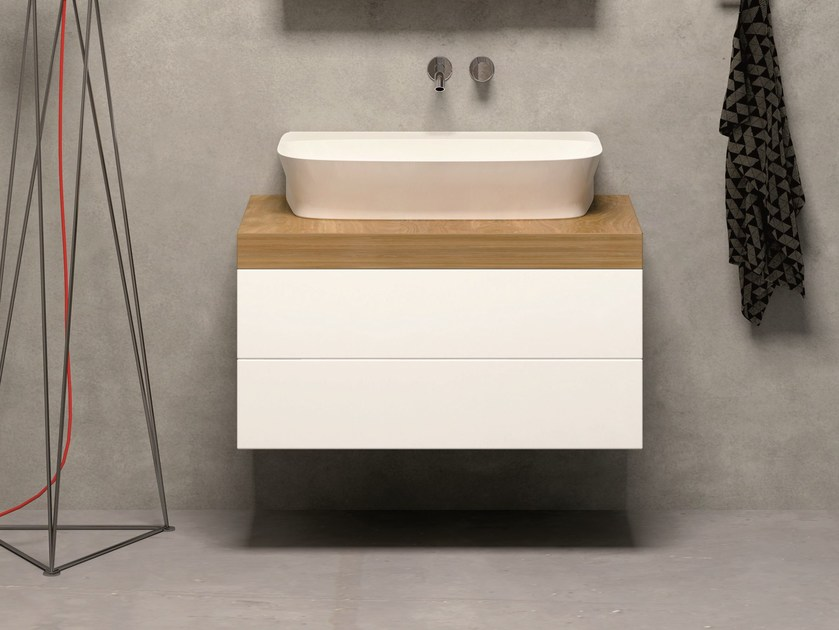 Wall-mounted vanity unit with drawers STIVA | Wall-mounted vanity unit by AZZURRA sanitari