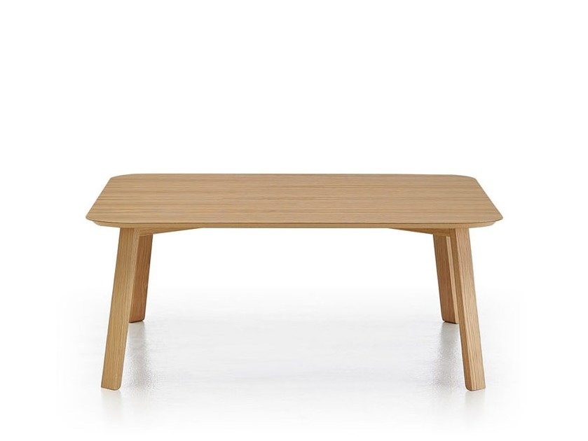 Low rectangular wooden coffee table STOCKHOLM | Rectangular coffee table - Punt