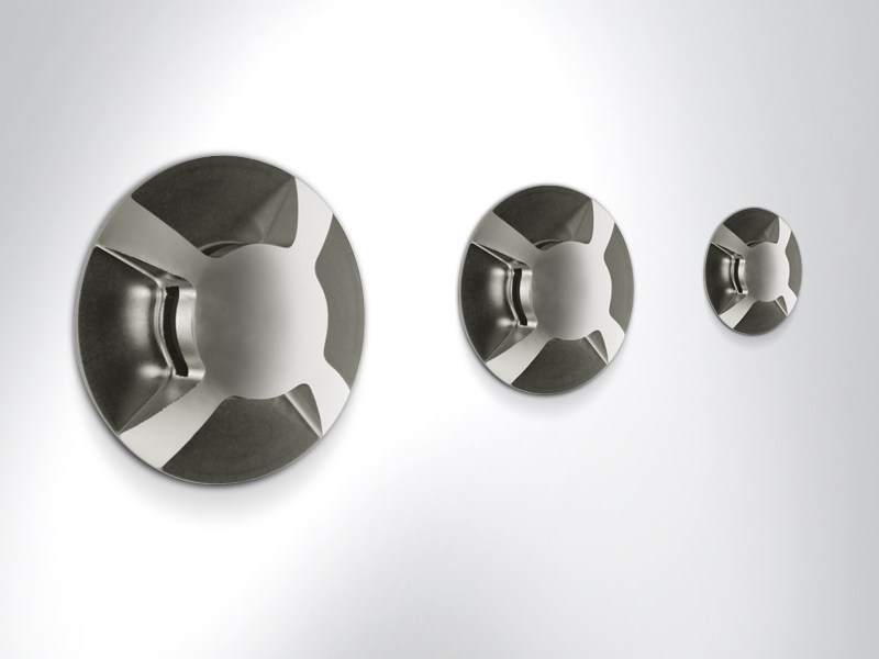 Walkover light stainless steel steplight STONE by Arcluce