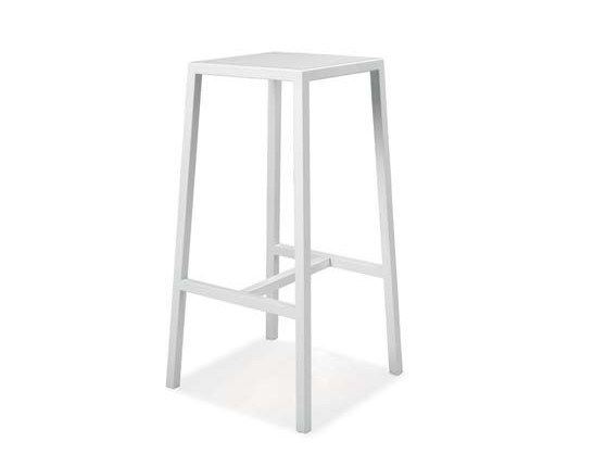 High iron stool with footrest Stool - CREO Kitchens by Lube
