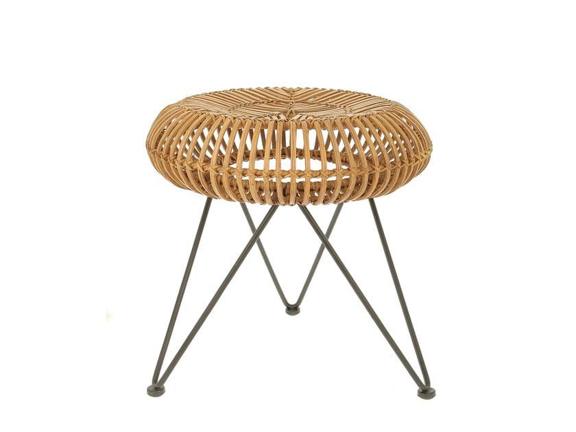 Rattan stool VINTAGE | Stool - Compagnie Française de l'Orient et de la Chine