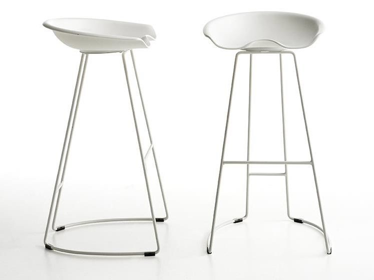 Stool with footrest LANDI | Stool - Midj