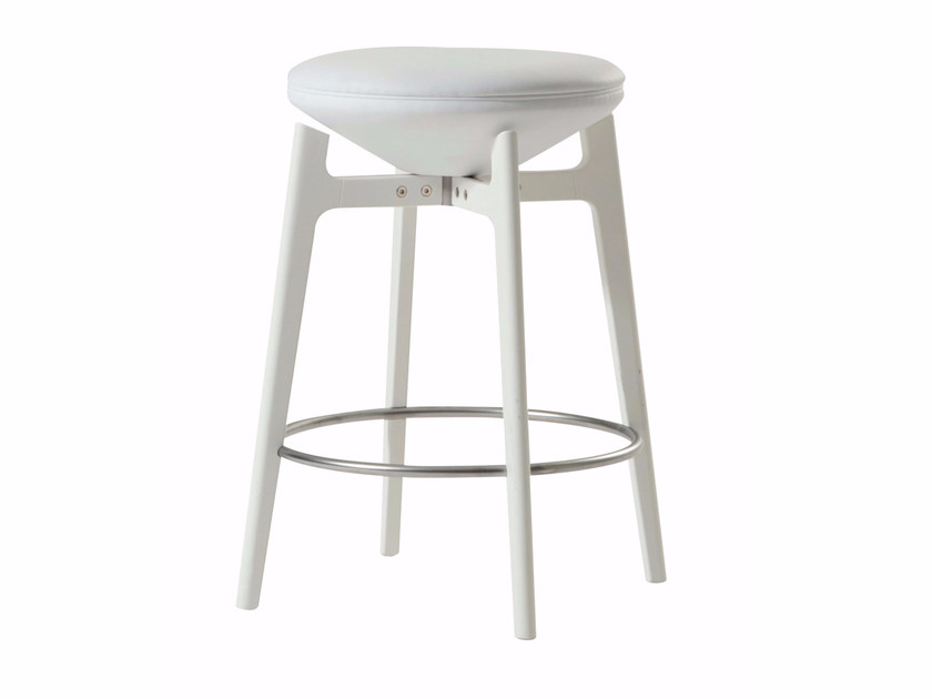 Swivel stool with footrest U-TURN | Stool - ROCHE BOBOIS