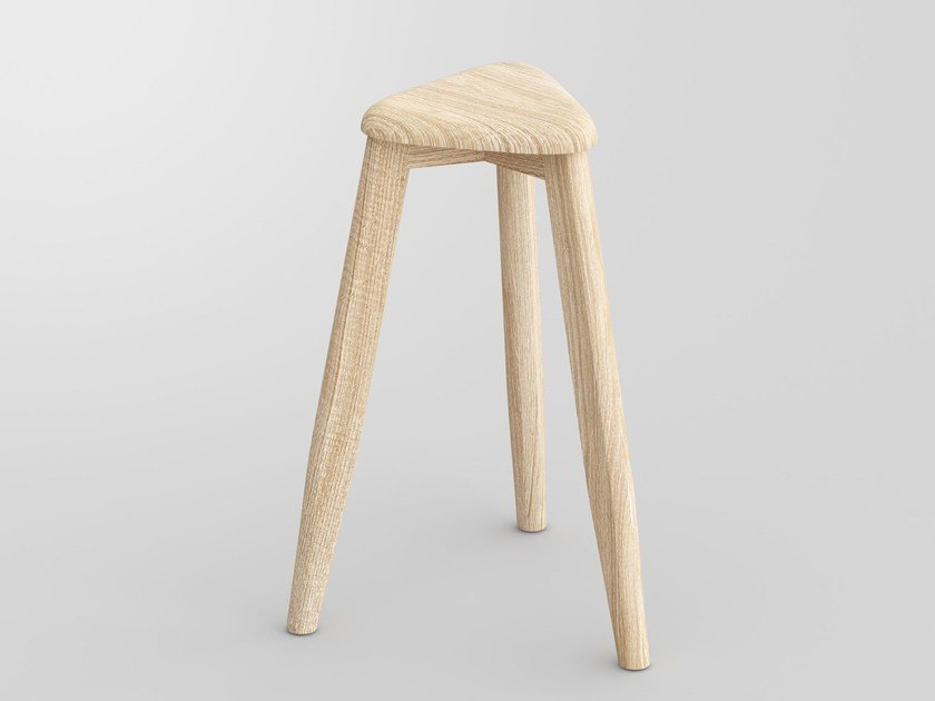 High solid wood stool AETAS SPACE | High stool - vitamin design