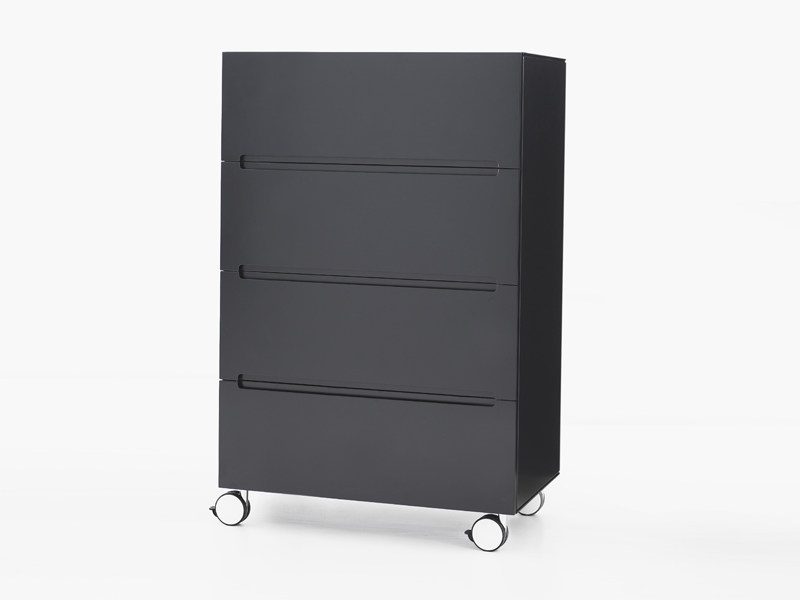 Free standing lacquered chest of drawers STOW | MDF chest of drawers by Karl Andersson