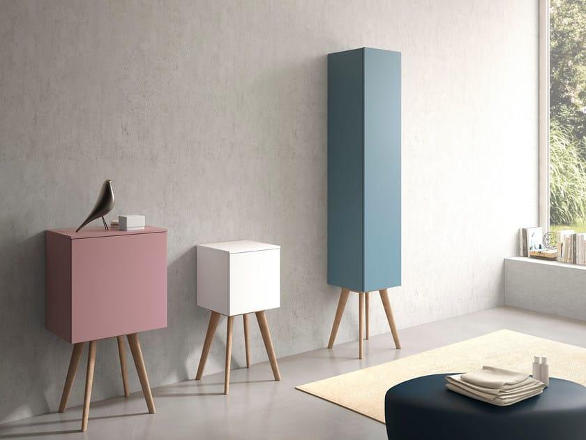 Floorstanding bathroom cabinet with doors STR8 | Bathroom cabinet by Gruppo Geromin