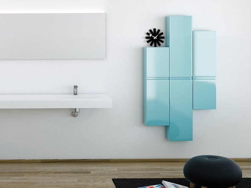 Suspended bathroom cabinet with mirror STRATO | Suspended bathroom cabinet by INBANI