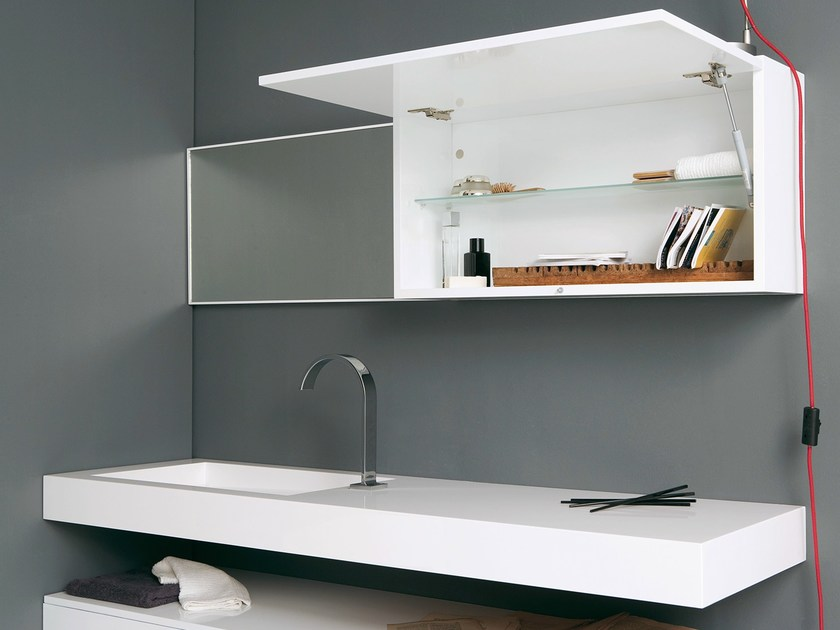 Wall cabinet with mirror STRATO | Wall cabinet - INBANI