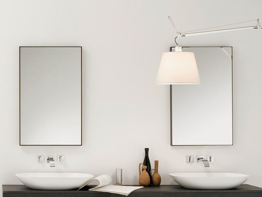 Wall-mounted framed mirror STRATO | Wall-mounted mirror by INBANI