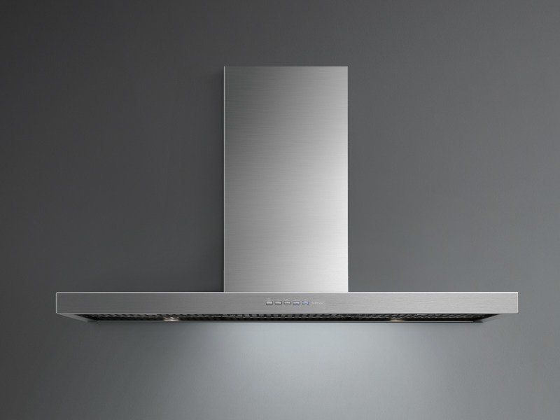 Wall-mounted stainless steel cooker hood with activated carbon filters STREAM - Falmec