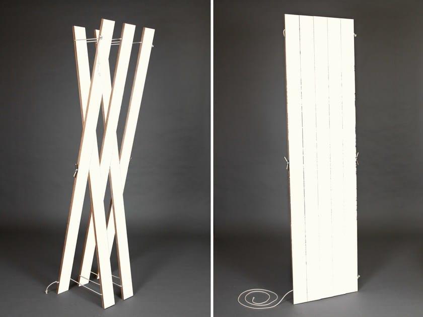 Plywood coat stand STREIPS   Coat rack - AMBIVALENZ