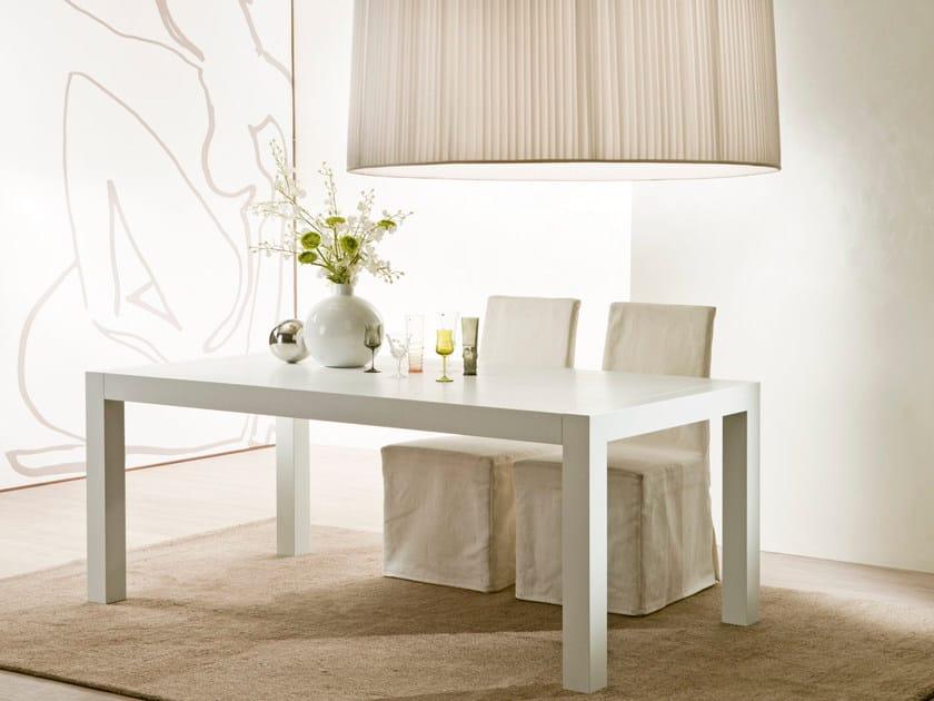 Extending wood veneer table STRIKE - Pacini & Cappellini