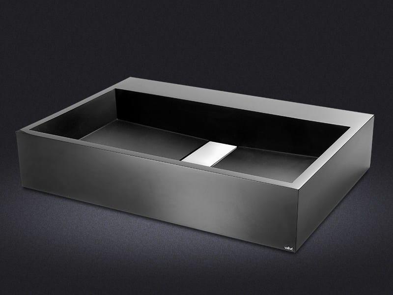 Countertop rectangular resin washbasin STRIPE | Countertop washbasin - Vallvé Bathroom Boutique