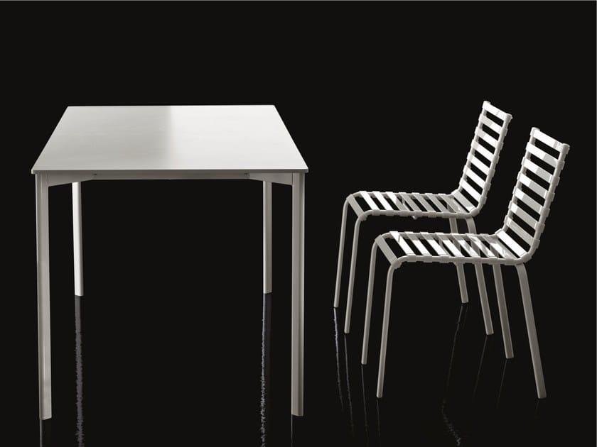 Rectangular garden table STRIPED | Rectangular table - Magis