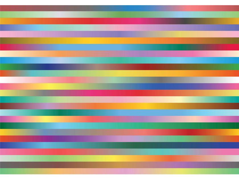 Rectangular fabric rug with optical pattern STRIPES - Moooi©