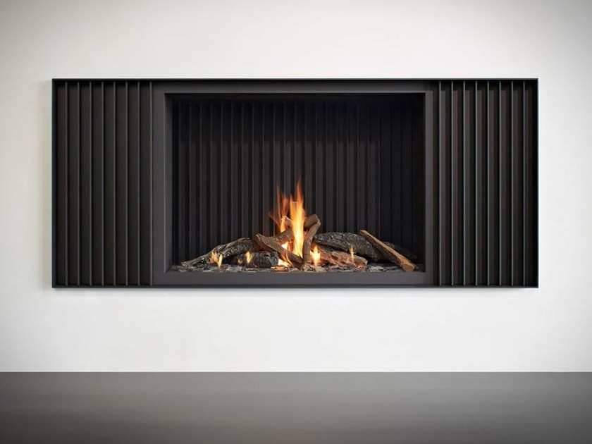 Gas open steel fireplace STÛV B-100 H PB - Stûv