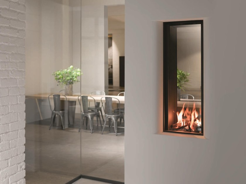 Double-sided gas wall-mounted fireplace STÛV B-35 | Double-sided fireplace by Stûv