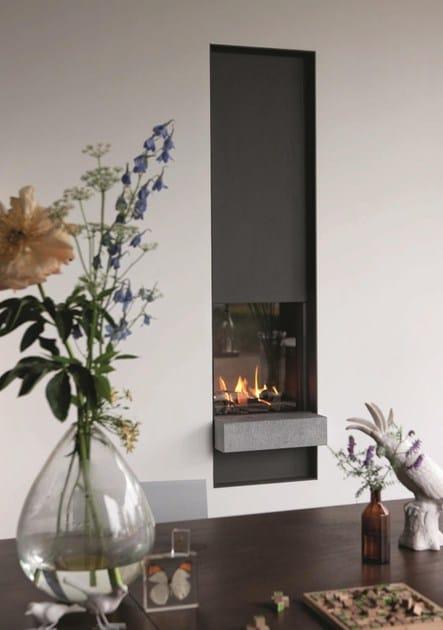 Gas wall-mounted fireplace with panoramic glass STÛV B-50 | Fireplace - Stûv
