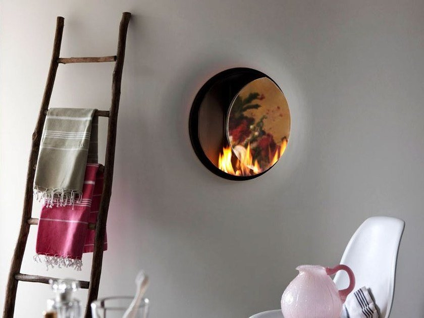 Double-sided gas wall-mounted fireplace STÛV B-50 | Double-sided fireplace by Stûv
