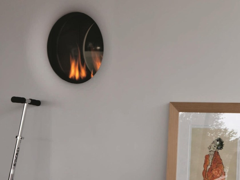 Gas curved built-in fireplace STÛV B-50 | Curved fireplace by Stûv