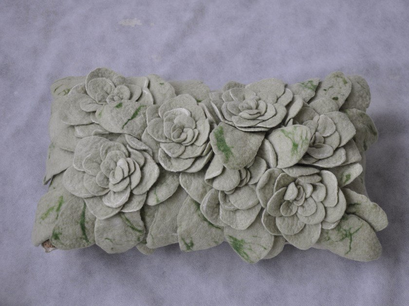 Wool felt cushion SUCCULENT - Ronel Jordaan™