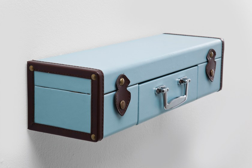 Wall shelf SUITCASE LIGHT BLUE - KARE-DESIGN
