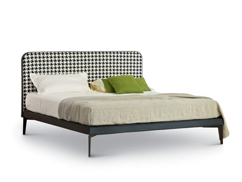 Double bed with upholstered headboard SUITE - arflex