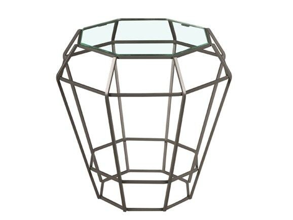 Glass side table SULTANA | Glass coffee table - Hamilton Conte Paris