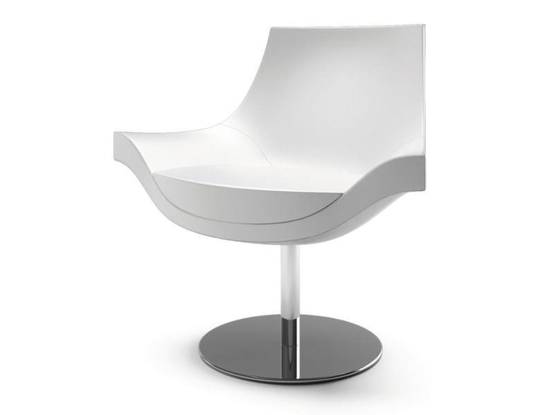 Swivel fabric easy chair SUMI - CIZETA
