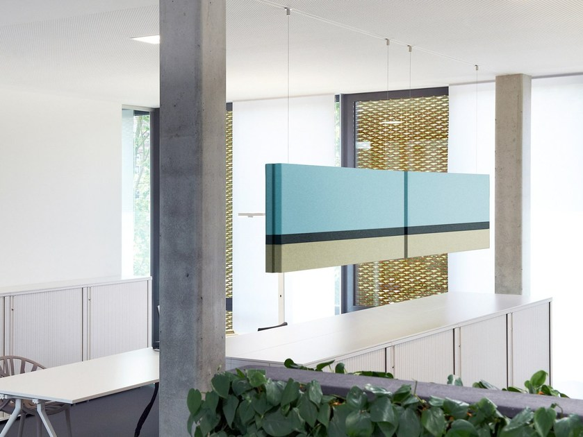 Fabric hanging acoustical panels NO. 02 SUMMER IN THE CITY | Acoustic baffles - Acousticpearls