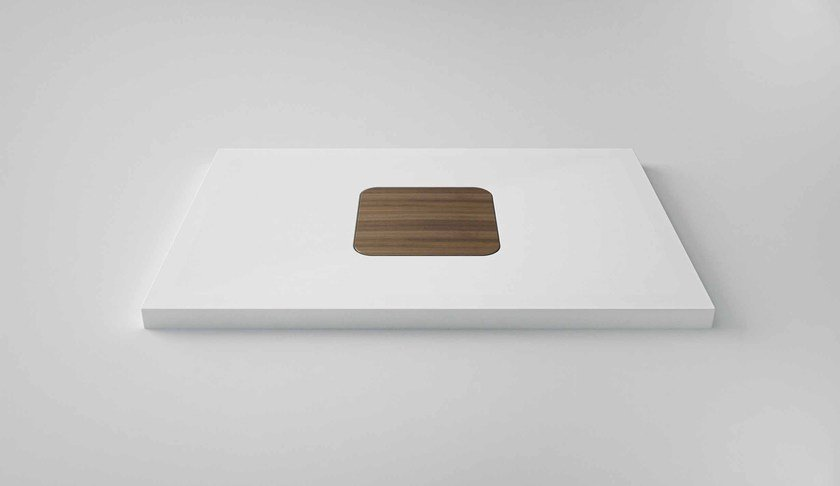 Rectangular Solid Surface® shower tray SUN | Shower tray - Flora Style