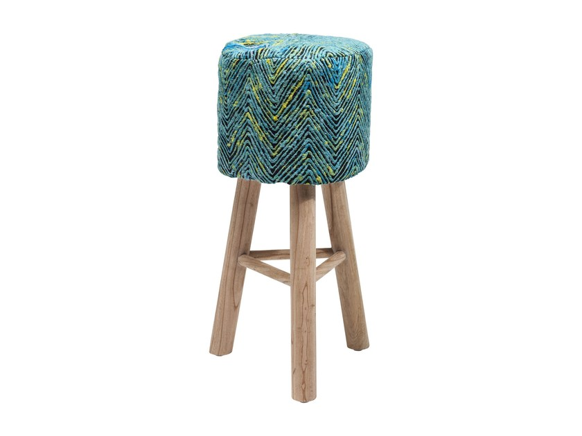 Low barstool with footrest SUNSET BLUE - KARE-DESIGN