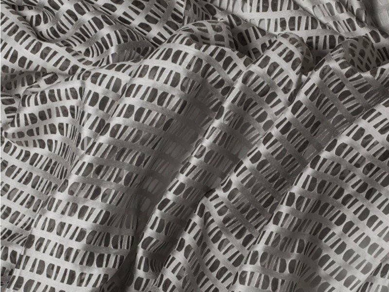 Fabric with graphic pattern for curtains SUOMI PIEDRA by Equipo DRT