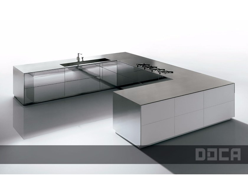 Fitted kitchen SUPER MIRROR / EBANO VINTAGE - Doca