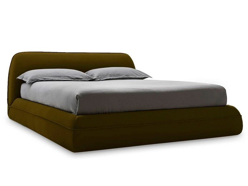 Fabric double bed SUPERSOFT | Bed - Calligaris