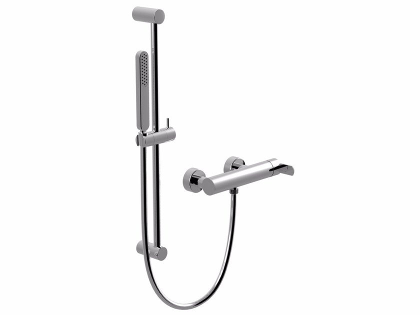 Wall-mounted shower panel with hand shower SURF | Shower wallbar with hand shower - Giulini G. Rubinetteria