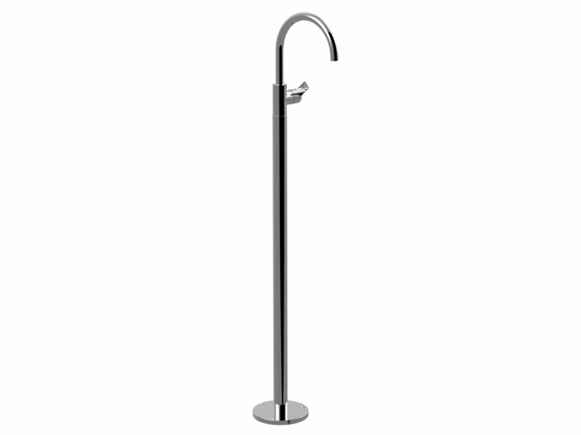 Contemporary style chrome-plated metal washbasin tap with adjustable spout with polished finishing SURF | Washbasin tap - Giulini G. Rubinetteria
