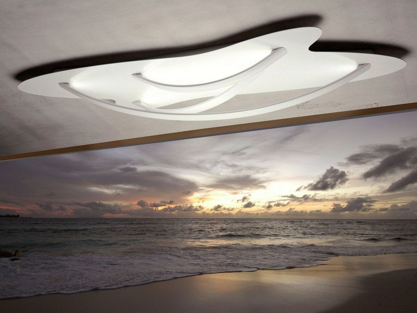 LED powder coated aluminium ceiling lamp SURFIN' | Ceiling lamp by millelumen