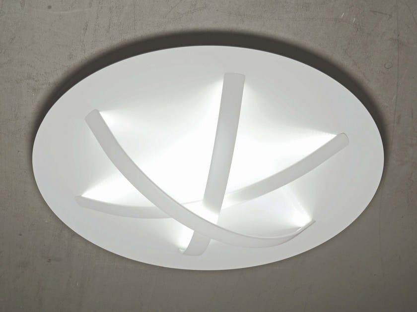 LED powder coated aluminium ceiling lamp SURFIN'   Ceiling lamp by millelumen