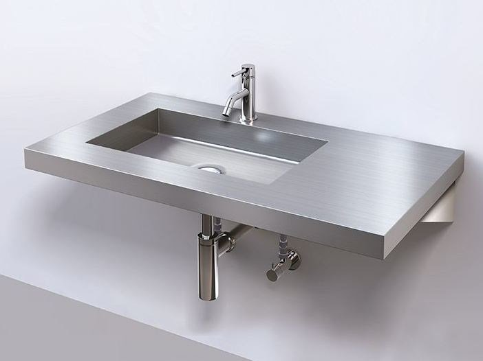 Rectangular single metal washbasin SUS CALIZA - Sanwa Company