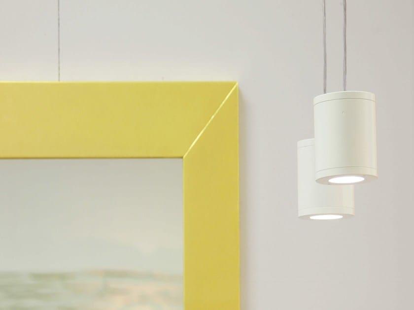 LED suspended aluminium spotlight CILINDRETTO | Suspended spotlight - Brillamenti by Hi Project