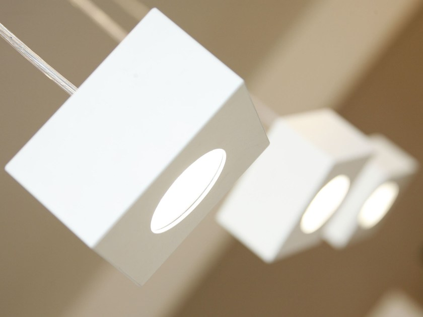 LED suspended aluminium spotlight CUBETTO | Suspended spotlight - Brillamenti by Hi Project
