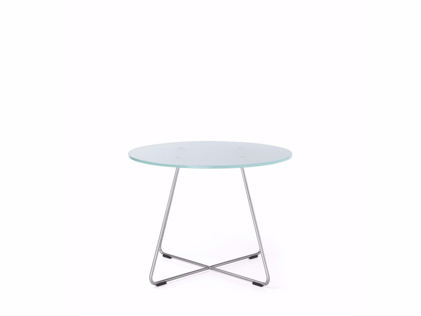Round glass coffee table SV40 by profim