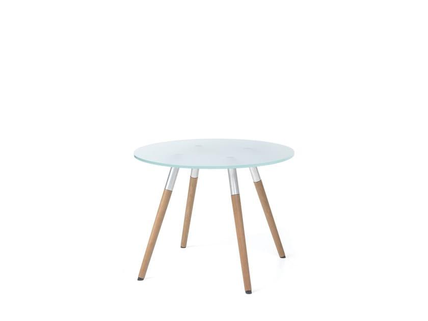 Tavolino ottagonale in vetro SW40 by profim